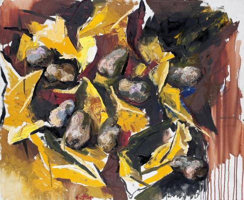 Ренато Гуттузо. Картофель на желтой бумаге.