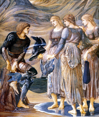 Edward Coley Burne-Jones. Perseus and the sea nymphs