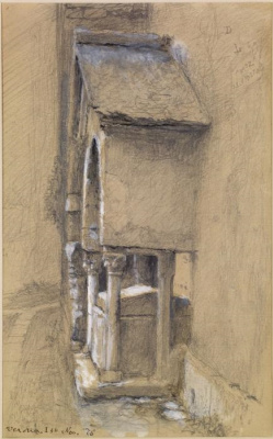 John Ruskin. Sarcophagus with a canopy, the area of ​​12 Apostles, Verona