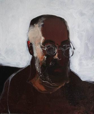 Matvey Weissberg. Self portrait in round eyepieces