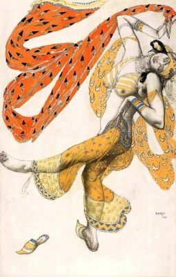 "Lev Samoilovich Bakst (Leon Bakst). Costume design odalisques for the ballet ""Scheherazade"""