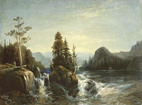 Alexey Petrovich Bogolyubov. Spill of the river Vokhti. Finland