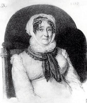 Orest Adamovich Kiprensky. Portrait of Elizabeth Markovna Olenina