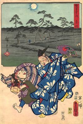 Хиросигэ Кунисада. Забавный веер