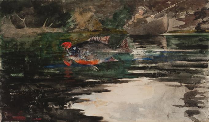 Winslow Homer. An unexpected catch