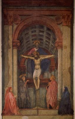 Tommaso Masaccio. The Holy Trinity. Fragment