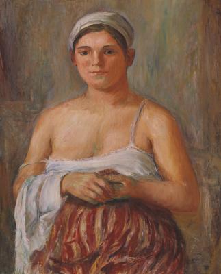 Александр Давыдович Древин. Девушка с полотенцем