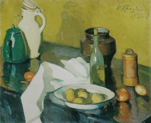 Осип Эммануилович (Иосиф) Браз. Натюрморт с белой салфеткой. 1922
