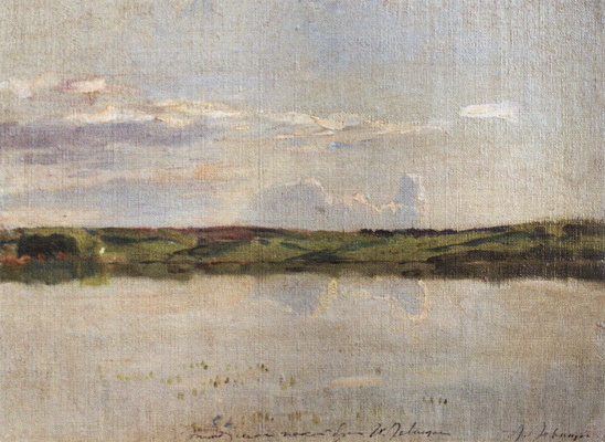 Isaac Levitan. A quiet summer evening