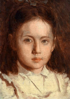 Ivan Nikolayevich Kramskoy. Portrait of the artist's daughter Kramskoy Sony