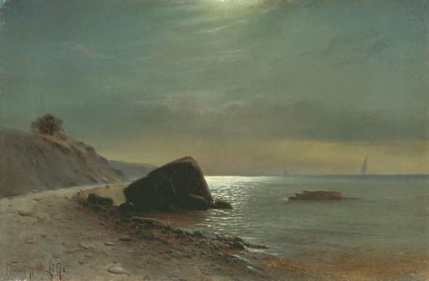 Mikhail Alexandrovich Alisov. Moonlit night at sea