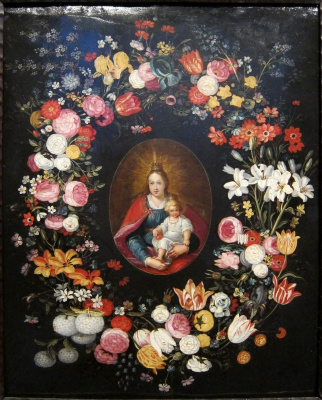 Jan Bruegel The Elder. The Madonna and child surrounded by different colors