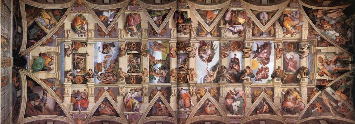 Michelangelo Buonarroti. The ceiling of the Sistine chapel