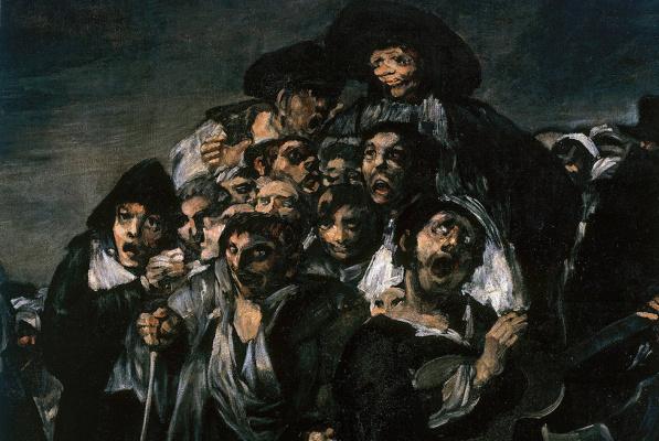 Франсиско Гойя. Паломничество в Сан-Исидро. Фрагмент
