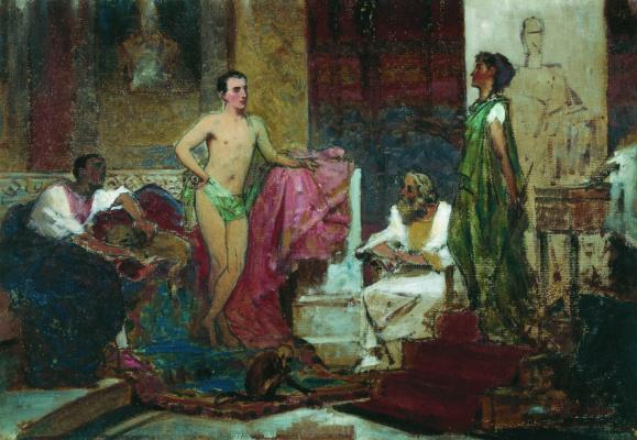 Федор Андреевич Бронников. Август в семейном кругу. 1874