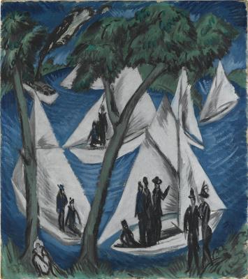 Ernst Ludwig Kirchner. Sailboats near Grunau