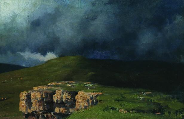 Nikolay Aleksandrovich Yaroshenko. Clouds in the mountains. 1880 Study