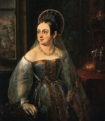 Vasily Andreevich Tropinin. Portrait Of Ekaterina Ivanovna Karzinkina. Etude