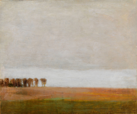 Vilhelm Hammershøi. Landscape north of Copenhagen