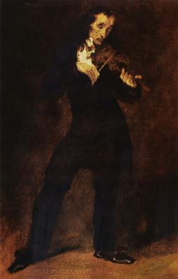 Eugene Delacroix. Portrait Of Paganini
