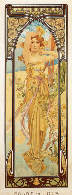 Alphonse Mucha. Day impulse. Series times of the day