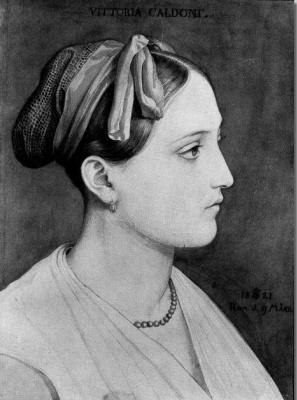Julius Schnorr von Karolsfeld. Portrait Of Vittoria, Caldoni