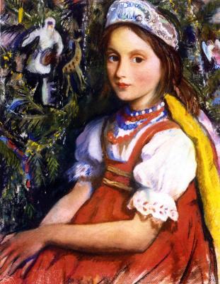 Zinaida Serebryakova. Portrait of the daughter