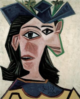 Бюст женщины в шляпе (Дора)