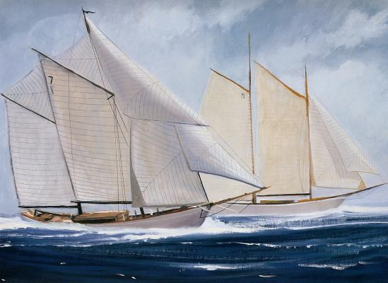 Даниэль Фрей. В море