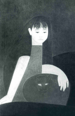 Will Barnet. Girl with a cat