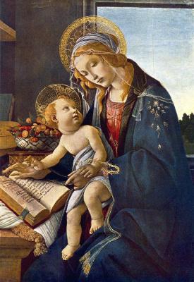 Сандро Боттичелли. Мадонна с Младенцем и книгой