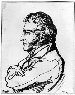 Théodore Géricault. Portrait of an economist Brunet