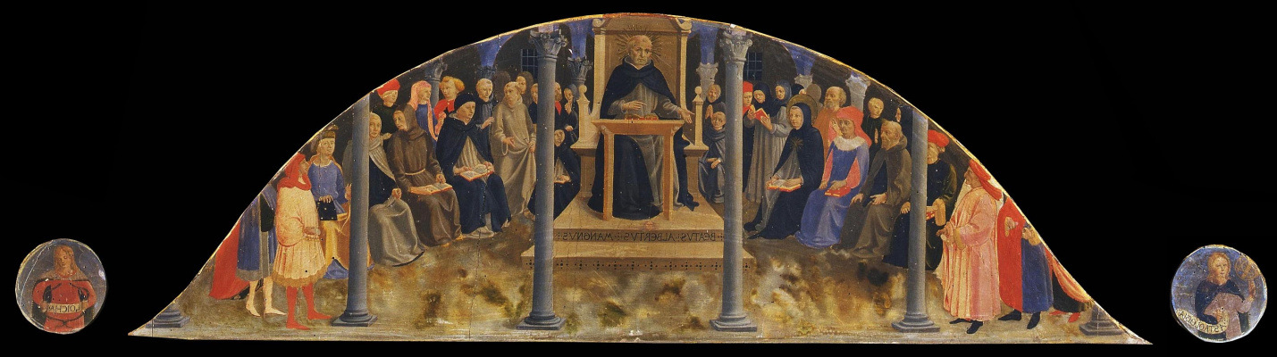 Fra Beato Angelico. School of Blessed Albert the Great (Lunette)