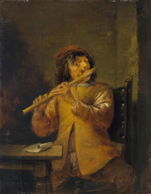 David Teniers the Younger. Flutist