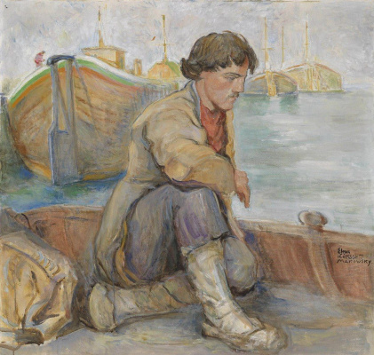 Elena Konstantinovna Luksh-Makovskaya. The Volga boatman