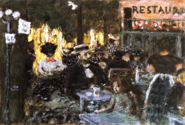 Pierre Bonnard. Terrace cafe