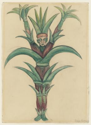"""Диего Мария Ривера. Сахарный тростник. Костюмы для балета """"Лошадиная сила"""""""