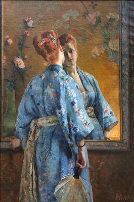 Alfred Stevens. La Parisienne Japonaise