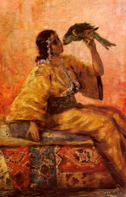 Франц Шарль. Красавица и попугай