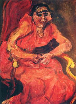 Haim Solomonovich Soutine. Woman in pink