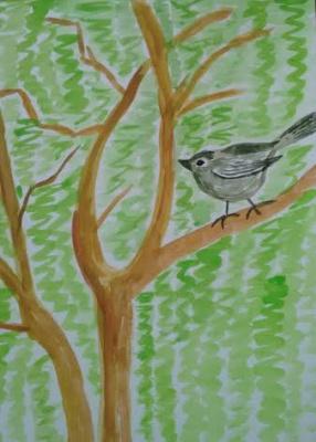 Irina Alexandrovna Sokolova. The Nightingale and willow