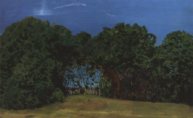 Constantin Somov. Summer landscape