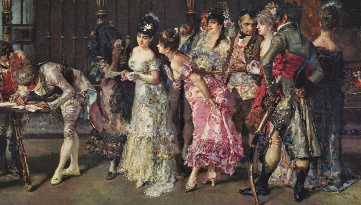Mariano Fortuni-i-Carbo. Spanish wedding (detail)