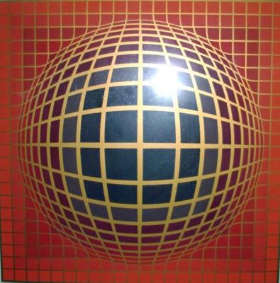 Victor Vasarely. VEGA in red