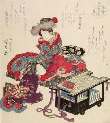 """The courtesan on the Desk. From the series """"Bird spores"""""""