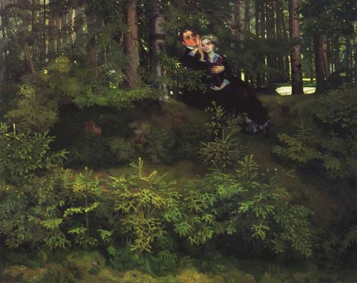 Constantin Somov. In the woods