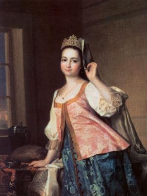 Дмитрий Григорьевич Левицкий. Портрет Агафьи Дмитриевны Левицкой, дочери художника