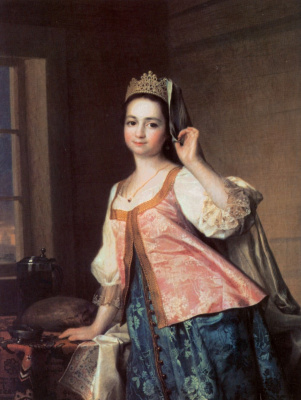 Dmitry Grigorievich Levitsky. Portrait of Agafia Dmitrievna Lewycka, the daughter of the artist