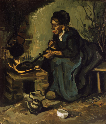 Vincent van Gogh. Peasant woman by the hearth