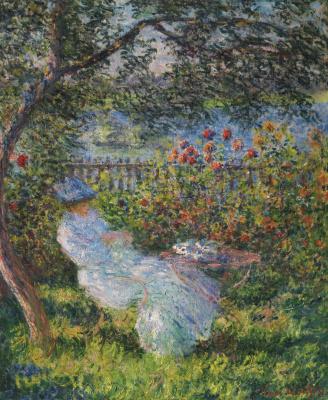 Claude Monet. Alice Hoschedé  in the garden